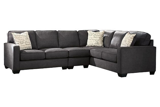 Best Charcoal Alenya 3 Piece Sectional View 2 Grey Sectional 400 x 300
