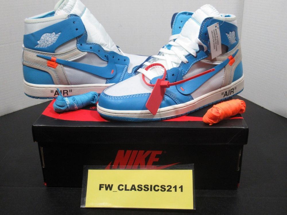 0c3ee3272325 Nike Air Jordan Retro 1 High OG x OFF-WHITE UNC Size 11 AQ0818 148  fashion   clothing  shoes  accessories  mensshoes  athleticshoes (ebay link)