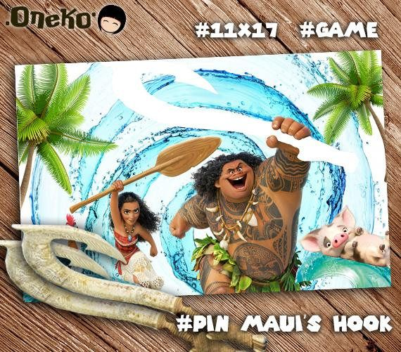 SALE 50 OFF Moana Party Game Pin The Mauis Hook