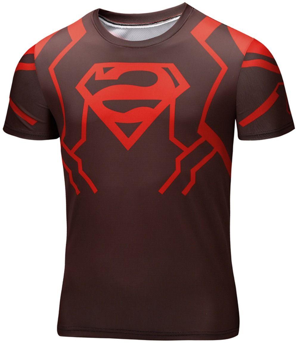 Sport t-shirt Alternative Logo Superman DC GYM Workout Gear Fast dry -  Idolstore
