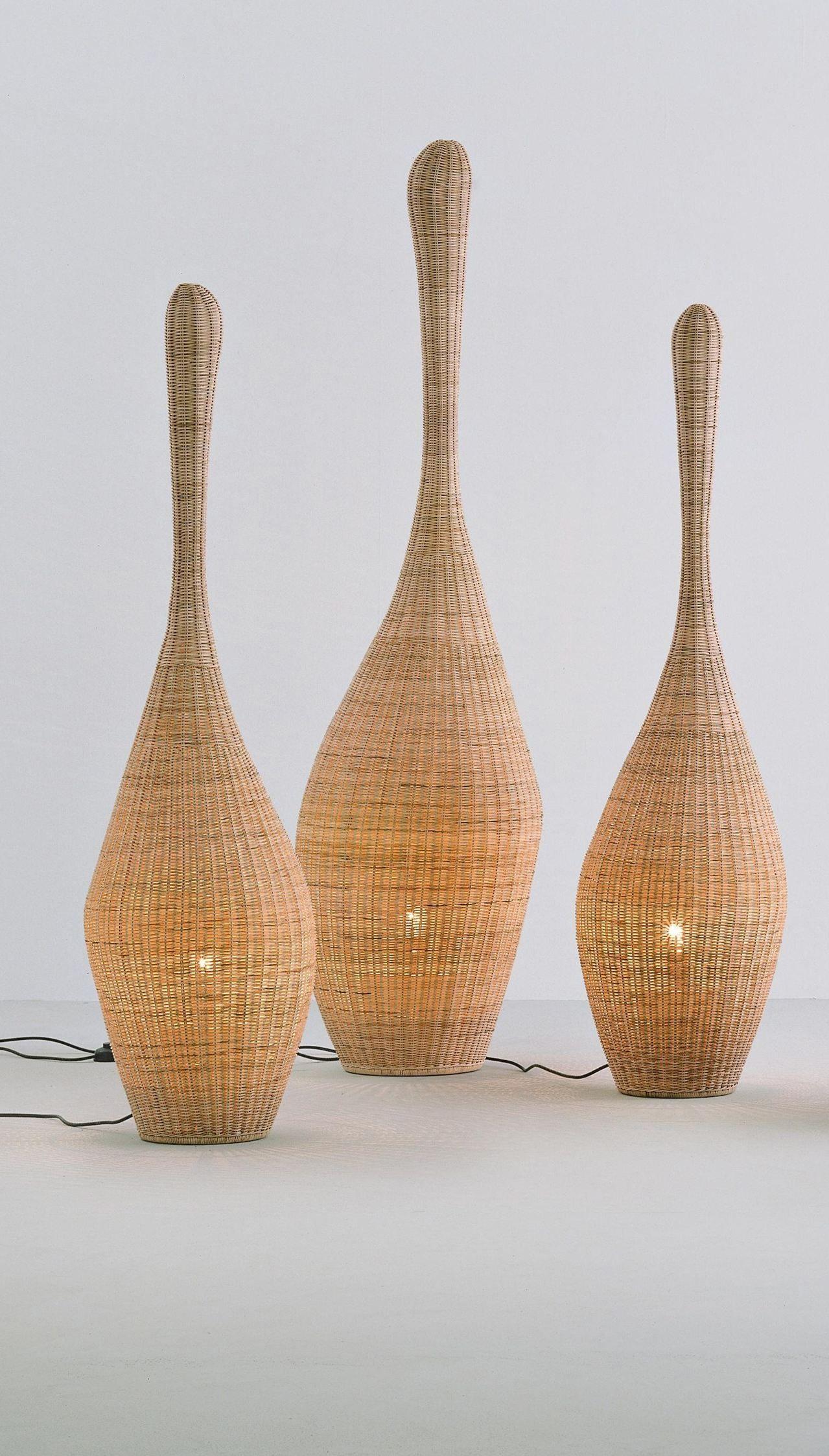 L Anfora Rattan Amphoren Lounge.Bolla Gervasoni Lamp Decor Floor Lamp Lighting