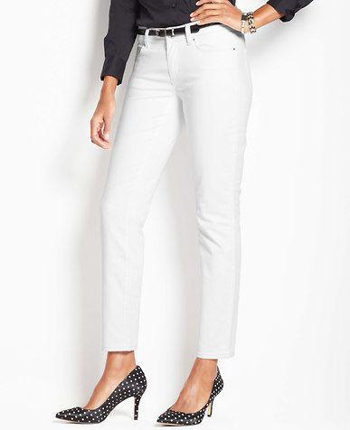 Curvy Denim Ankle Jeans