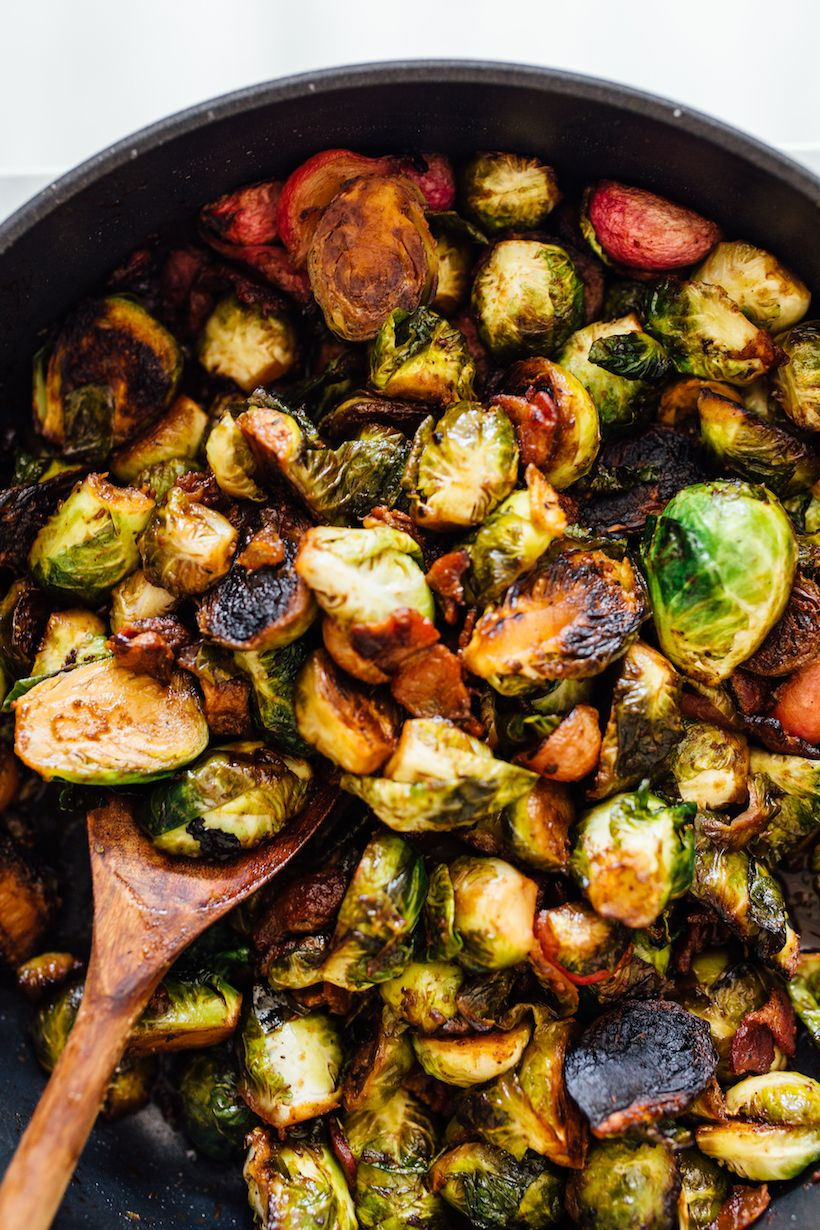 Crispy Brussels Sprouts With Radishes Bacon Amp Dates