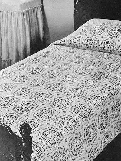 Crochet Bedspread Free Pattern