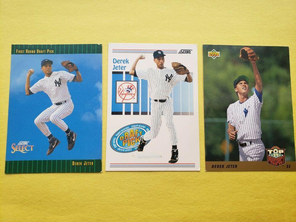 3 new york yankees derek jeter rookie cards upper deck