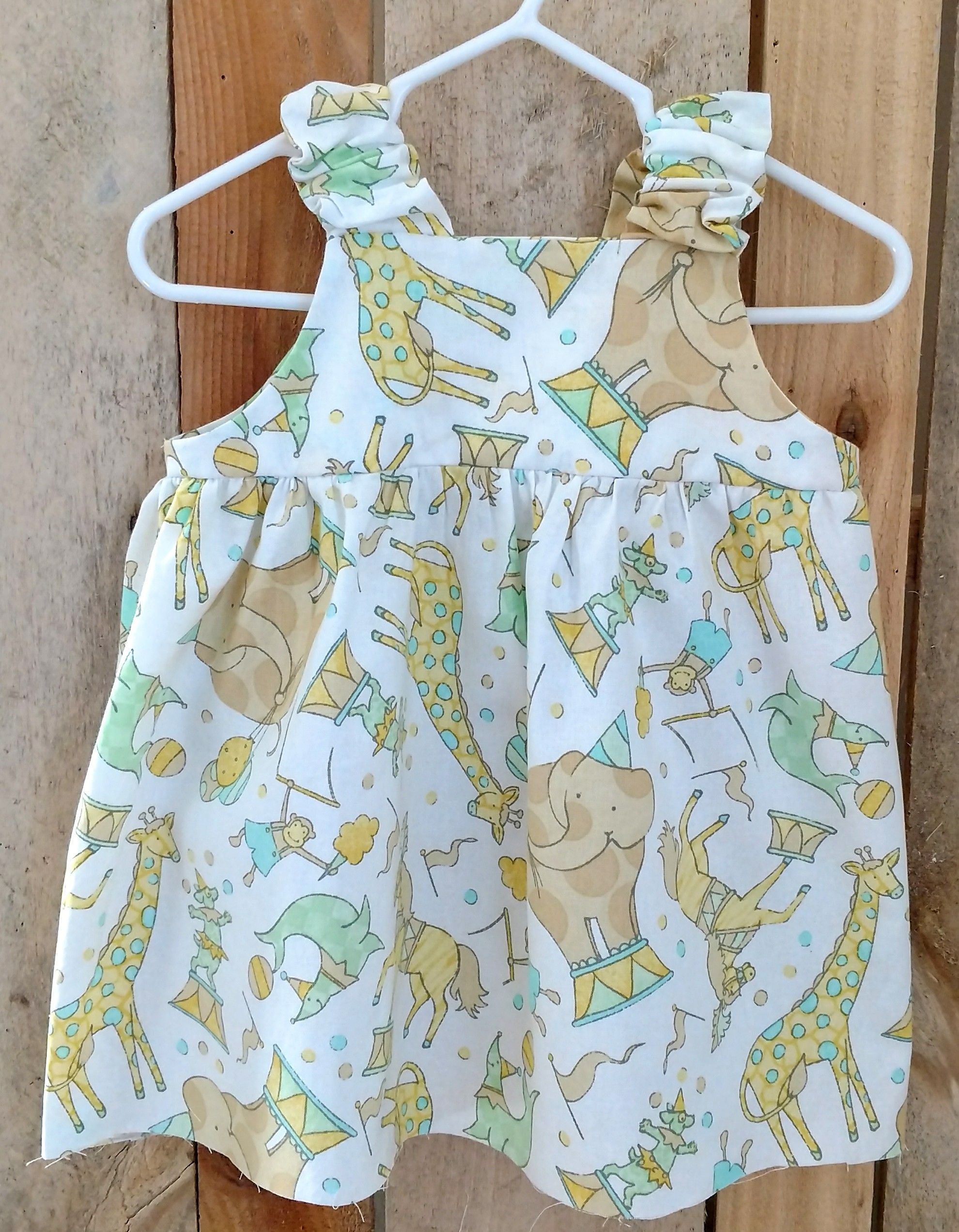 Baby dress in cute baby circus animals, infant baby dress,infant sun ...