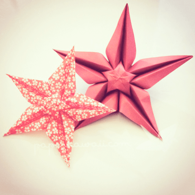 Origami star flower video tutorial origami stars star flower and learn how to make this beautiful origami star flower diagram and video tutorial perfect mightylinksfo