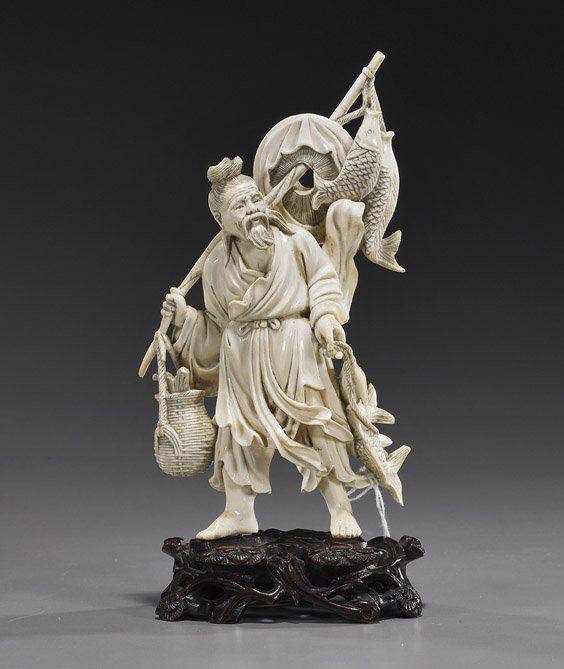 Chinese ivory carving carved