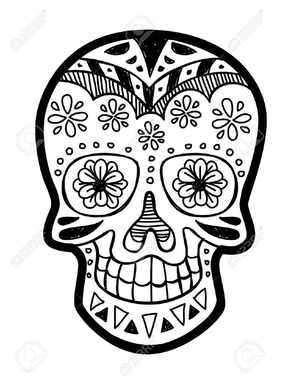 Sugar Skull Skull Coloring Pages Sugar Skull Images Sugar Skull Sleeve