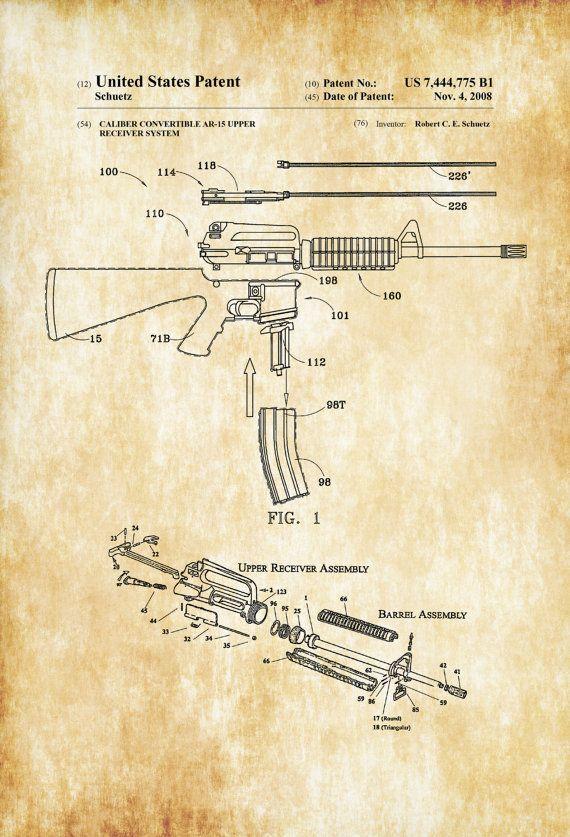 ar 15 rifle caliber converter patent patent print, ar 15 patentar 15 rifle caliber converter patent patent print, ar 15 patent, rifle patent, gun art, firearm ar