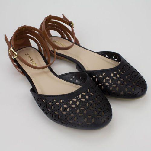 6f4d332a919fe4 CHECK! Womens-Black-Tan-Two-Tone-Closed-Toe-Flat-Sandal-Bamboo-Lynda ...