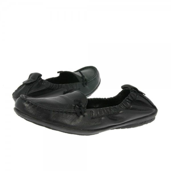 Hush Puppies Shoes Ceil Slip On Black Leather  Free Delivery
