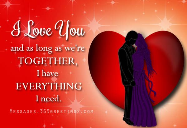 Romantic love message for girlfriend