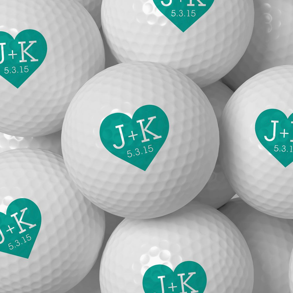 Initial Hearts Personalized Golf Balls #bridalshower #customfavor ...