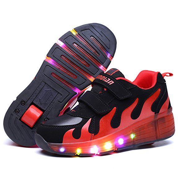 8b1fe7d5d069 SGoodshoes Unisex Adults LED Light inline Skate Trainer Kids Boy Led Wheels  Shoes Girl Flashing Roller Skates Shoes Adjustable Rollerblades