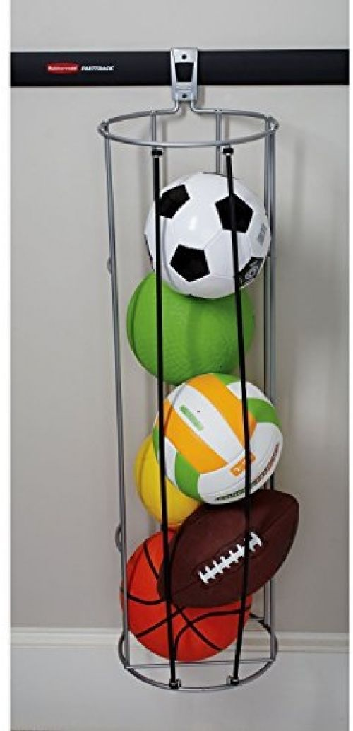 Garage Wall Mount Ball Organizer Storage Basketball Volleyball