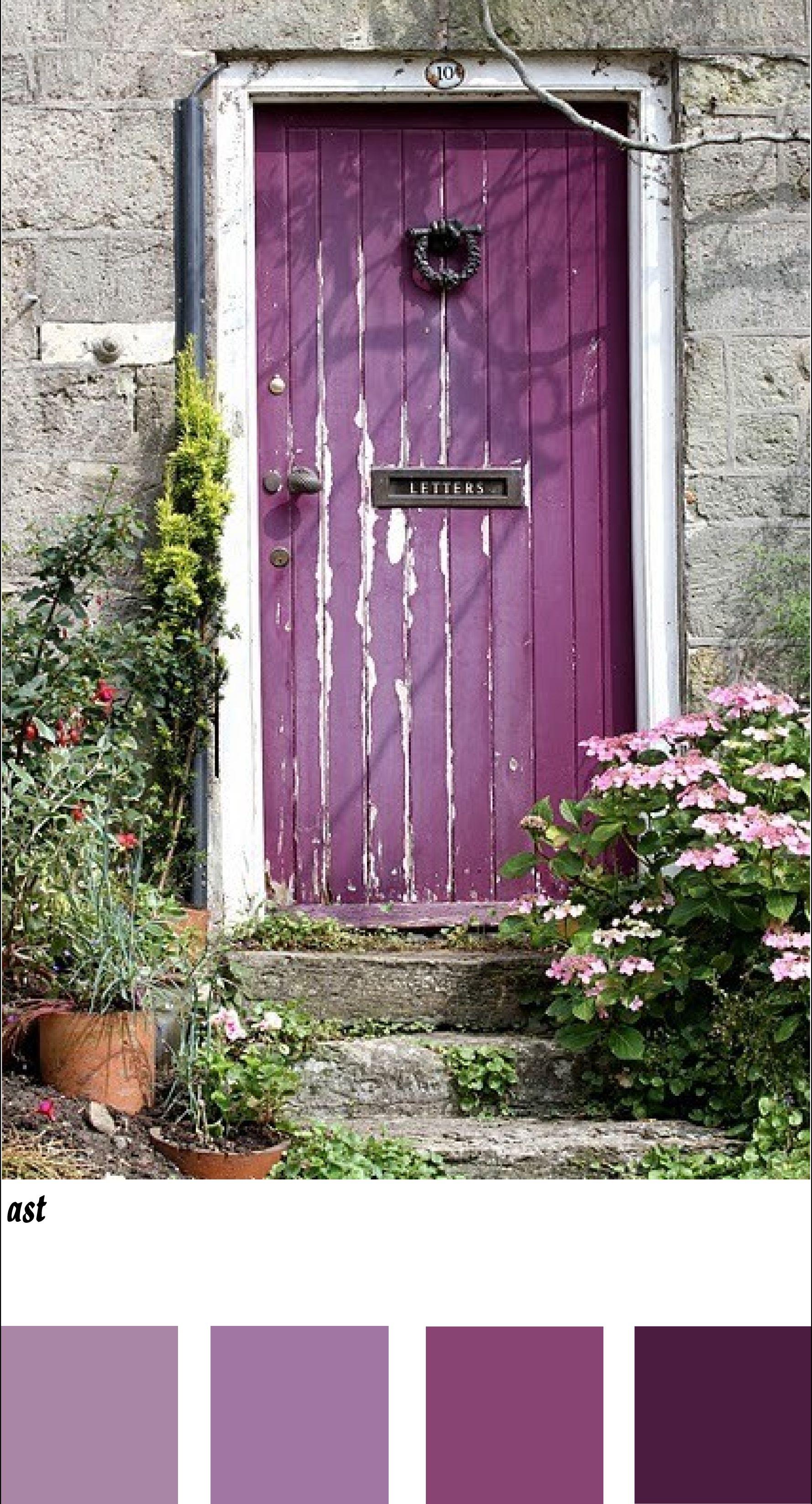 Purple door tones.