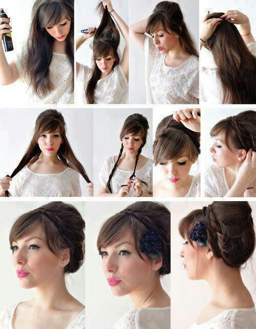 Peinado Facil Y Bonito Cabello Pinterest - Peinado-facil-pelo-largo