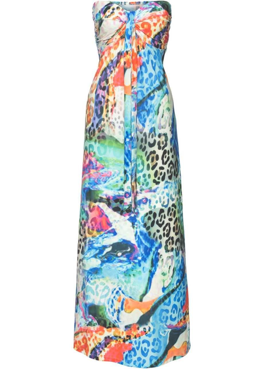 72d817c25081 Lång klänning blå, mönstrad - BODYFLIRT boutique köp online - bonprix.se