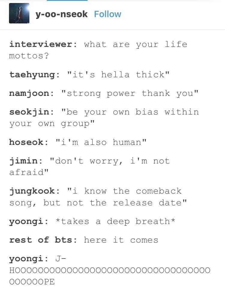 Hahahhahaha reminds me of how Yoongi has to time how long he