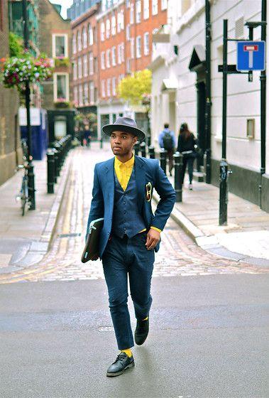 Vintage, H&M Shirt, Marks & Spencer Blazer, Belkin Portfolio, Kear & Ku Trousers, Urban Outfitters Socks, Dr. Martens Shoes #fashion #mensfashion #menswear #mensstyle #style #outfit #ootd