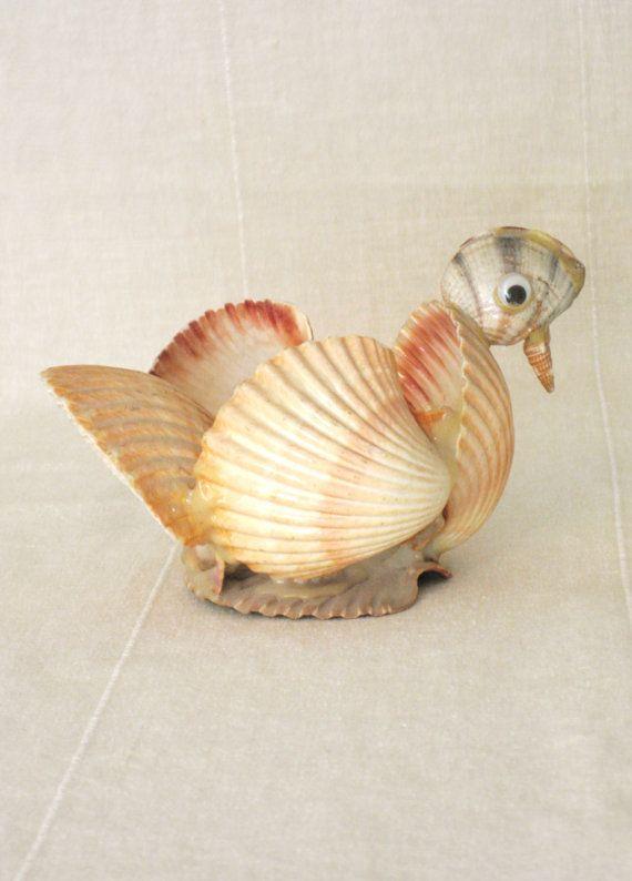 Folk Art , Shell Art Bird , Sea Shell Art , Folk Art Bird , Sea Shells , Coastal Casual , Handmade , Chicken , Beach House Decor , Handmade