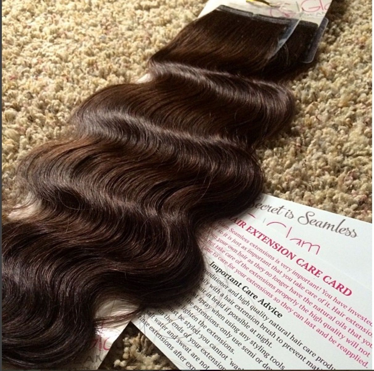 Looking For Low Maintenance Extensions Glam Seamless Beach Wave