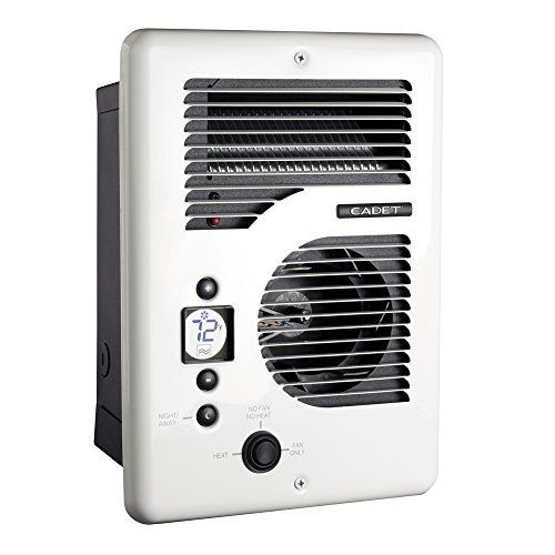 Cadet Cec163tw Energy Plus Multi Watt 120 240v Wall Heater With Electronic Thermostat White Space Heater Heater Best Electric Garage Heater