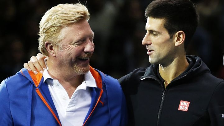 Image result for Boris Becker und Novak Djokovic