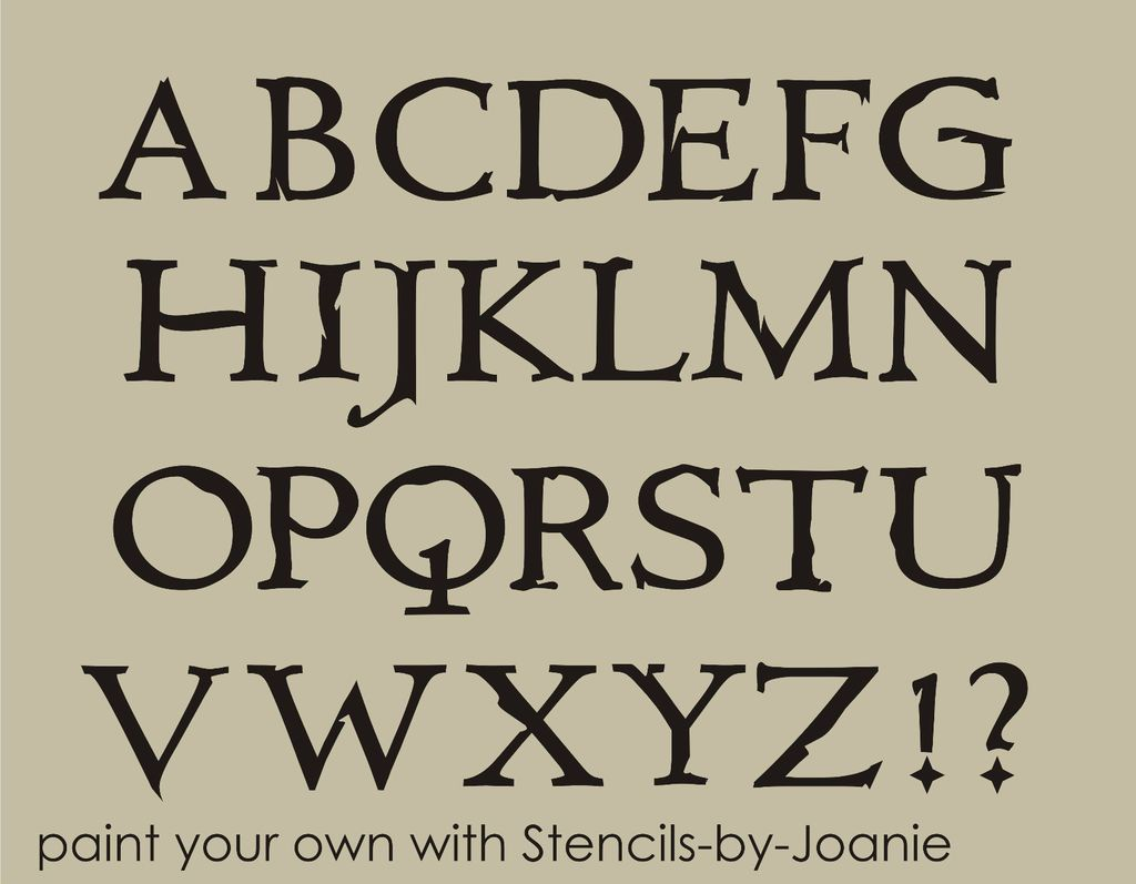 Alphabet STENCIL Primitive Country Names Capital Letters 2.5 tall ...