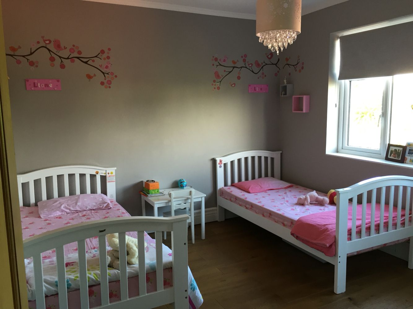 Kids bedroom walls painted in Farrow and Ball Dove Tail. Kids bedroom walls painted in Farrow and Ball Dove Tail   A 1930 s