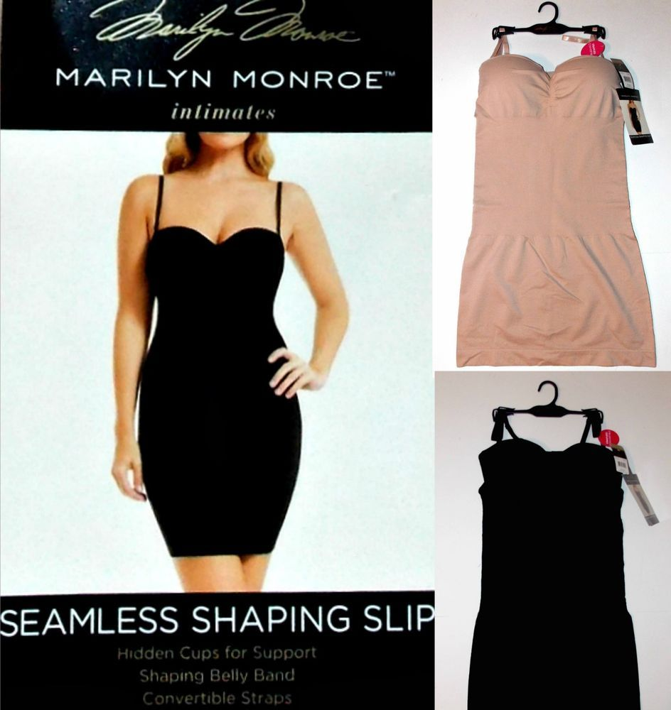 023cba17c5087 Details about NWT Marilyn Monroe Convertible Seamless Shaping Slip ...