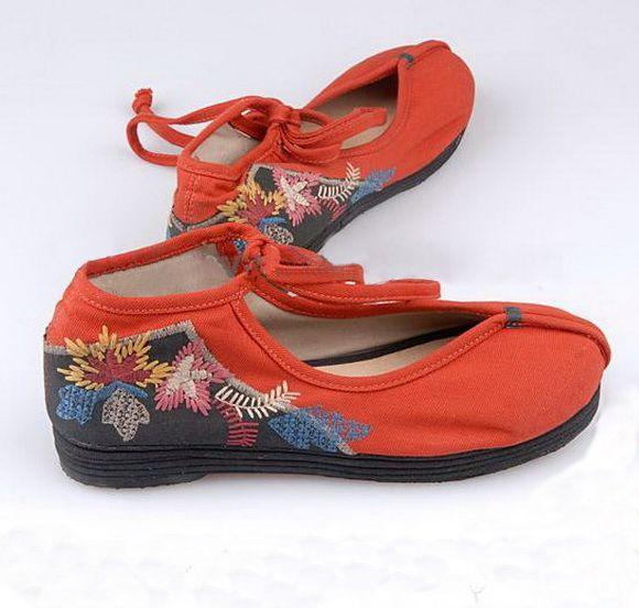 Round Tip Embroidery Cloth Shoes-zeniche.com SKU fb0051