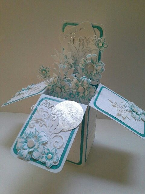 Card in  box with SU flowers