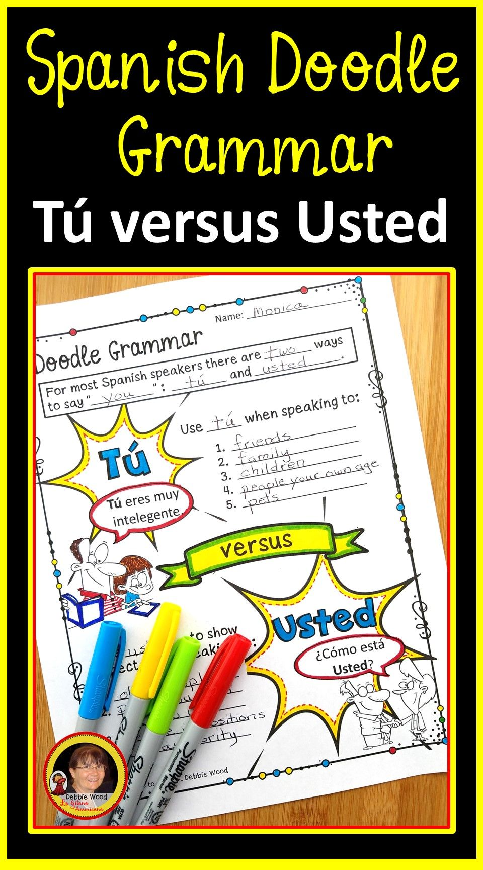 Spanish Tu Vs Usted Spanish Subject Pronouns Spanish Language Learning Spanish Subject Pronouns Spanish