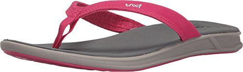 Reef Womens Rover Catch Flip Flop GreyPink 5 M US -- This is an Amazon Affiliate link. More info could be found at the image url.