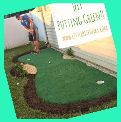 How to make a backyard putting green! DIY putting green ...