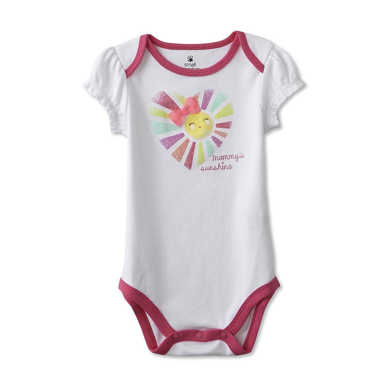 small wonders newborn infant girl s bodysuit mommy s sunshine
