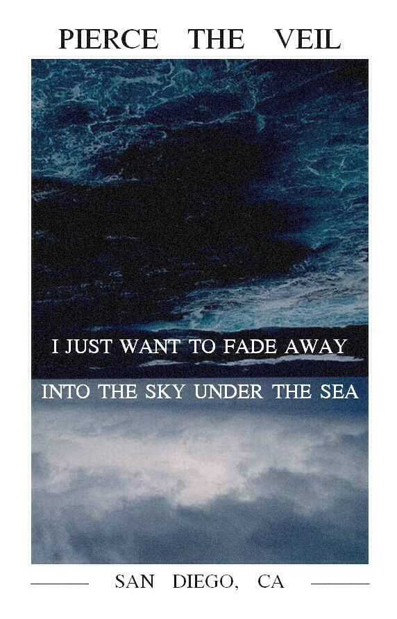 Pierce The Veil - The Sky Under The Sea   Band Lyrics   Pinterest ...
