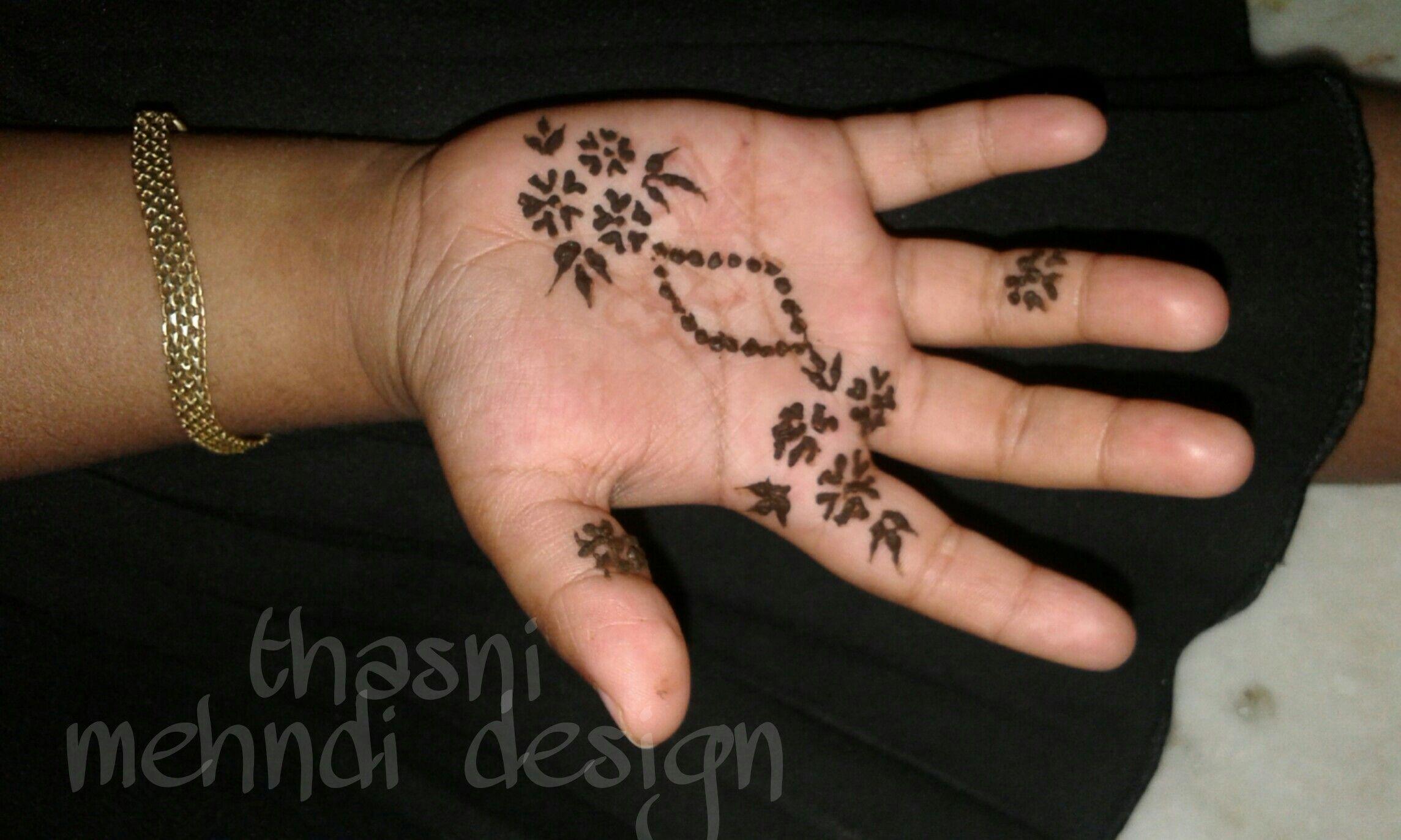 baby hand mehndi design simple