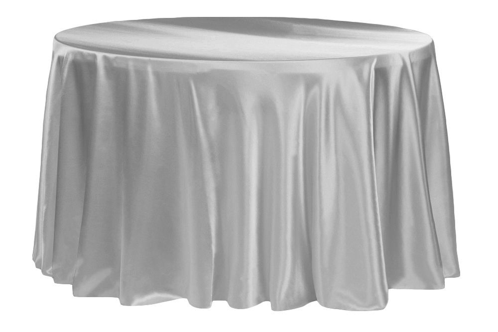 satin 120 round tablecloth silver pinterest round tablecloth