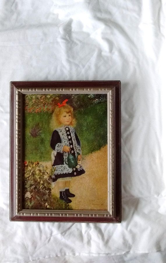 Vintage Renoir: A Girl with a Watering Can 12 x 9 | Etsy ...