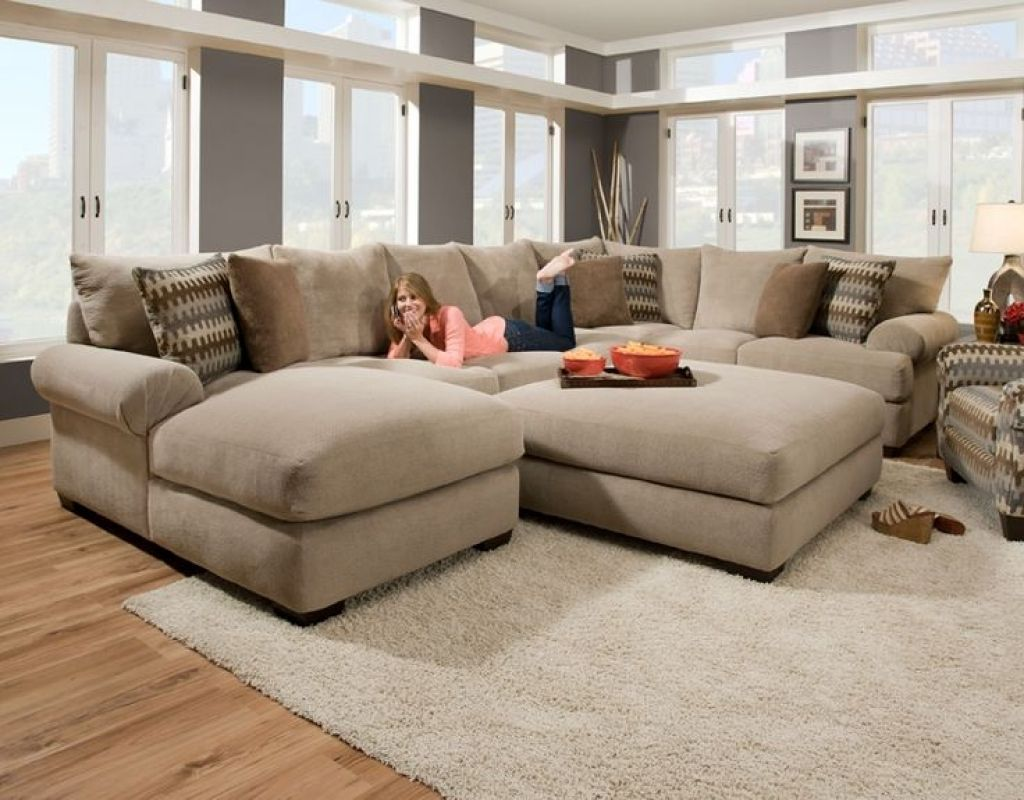 Cozy Oversized Sectional Sofa With