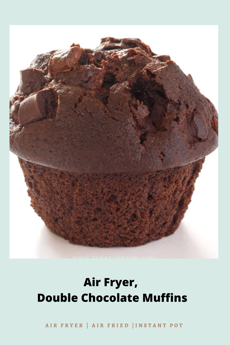 Air Fryer, Double Chocolate Muffins Recipe Double