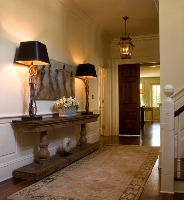 16 Elegant Traditional Staircase Designs That Will Amaze You: Don't Neglect Your Hallway: Welcome People Into Your Home