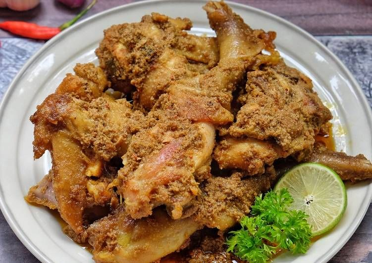 Resep Rendang Ayam Oleh Susi Agung Resep Resep Ayam Resep Makanan Sehat Resep Daging