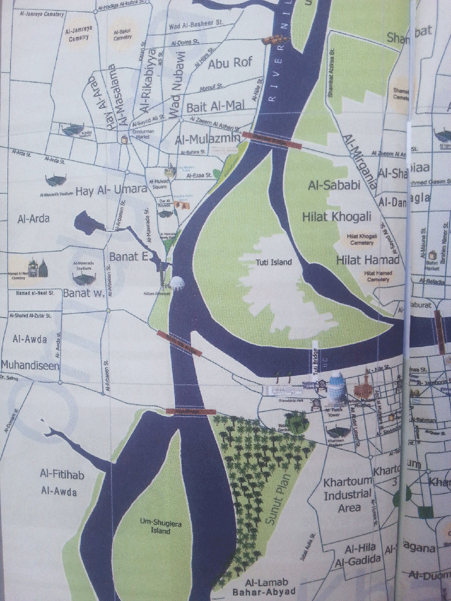 Khartoum City Map for Easier Orientation City maps and City