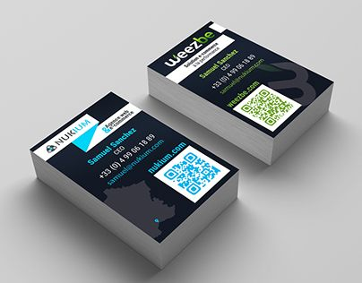 """Check out new work on my @Behance portfolio: """"Nukium - business cards"""" http://be.net/gallery/38710255/Nukium-business-cards"""