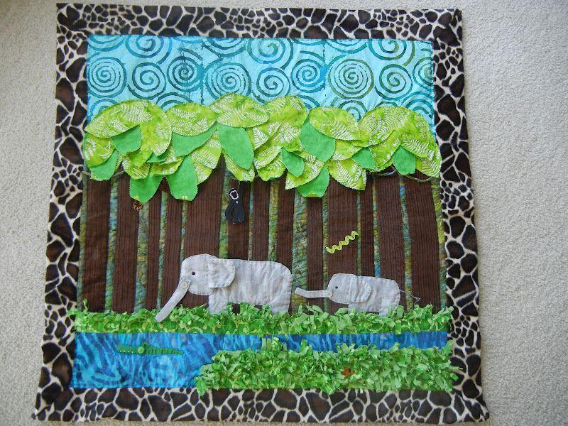 jungle themed quilt pattern | Quilt Story: Jungle Quilt