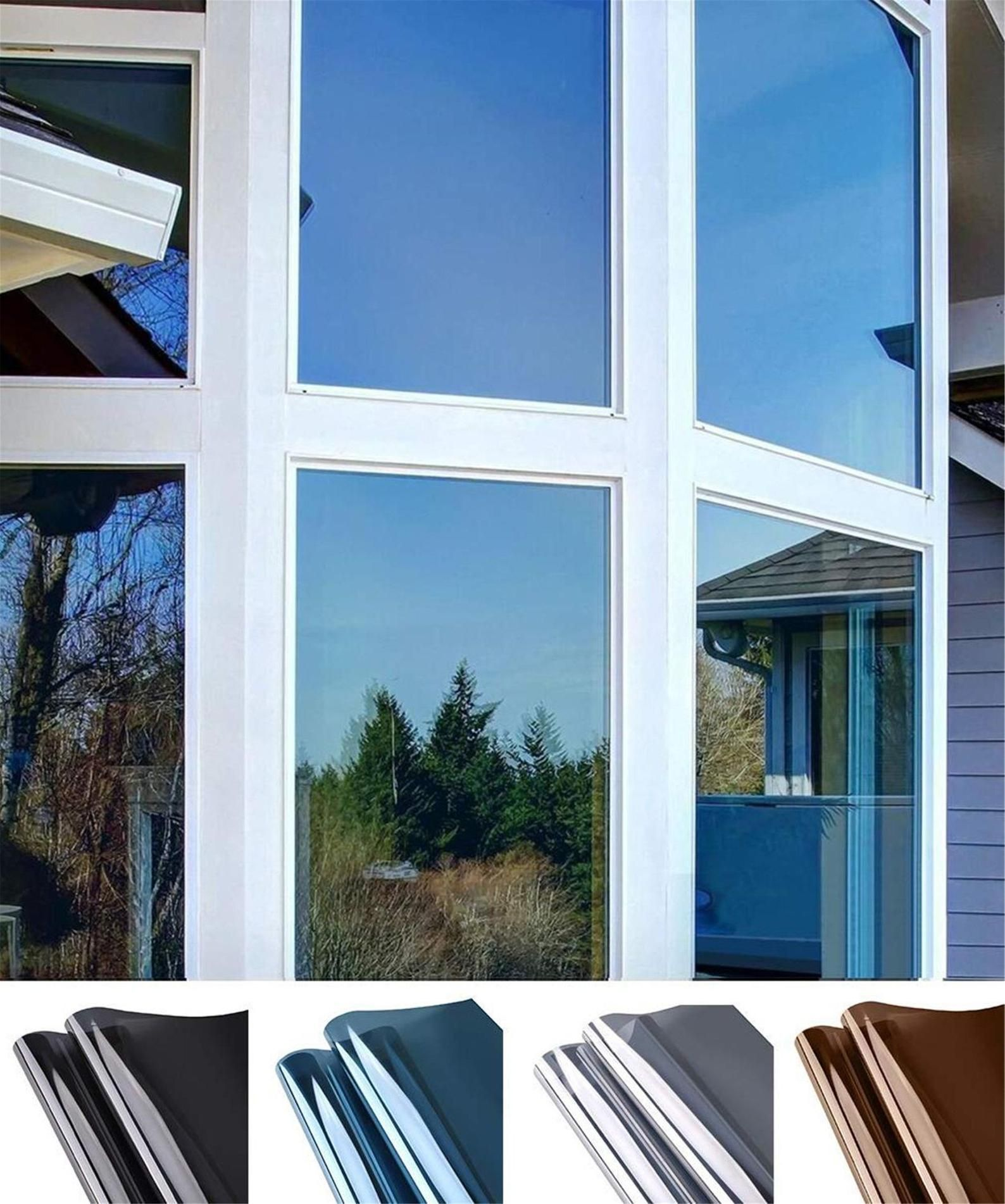 Window Privacy Film Sun Blocking Mirror Reflective Tint Heat Control Vinyl Anti Uv Window Stickers For Home And Office Window Film Privacy Window Privacy Mirror Window Film [ jpg ]